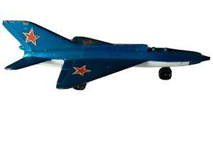 VTG MATCHBOX LESNEY SP6 MIG 21 MODEL SOVIET USSR JET FIGHTER PLANE 1973