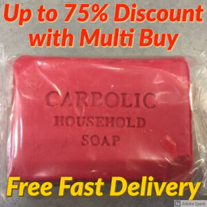 Carbolic Household Soap Antiseptic Red Pre Wash Laundry Soap Bar Multi Buy Free