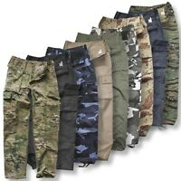 MENS ARMY CARGO CAMO US STYLE COMBAT TROUSERS WORK MILITARY PANTS TACTICAL CARGO