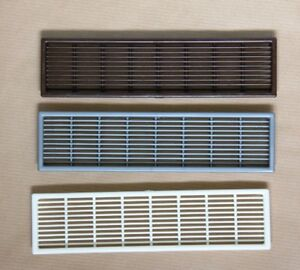 2x Grille Air Vents High Quality PlasticBuilt in Appliance Cover 207mm x 49mm
