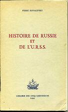 Histoire de Russie et de l'U.R.S.S.  /  Pierre Kovalevsky