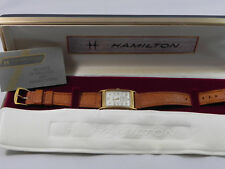 HAMILTON LIMITED EDITION WATCH 6080 ORIGINAL BOX WHITE FACE WORKING WELL MENS