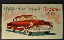 1953 DeSoto Small Brochure Fire Dome Hemi Powermaster Excellent Original 53