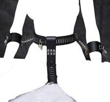 NERO LOCKDOWN Donna CASTITÀ Dispositivo cintura & polsino, fetish Slip