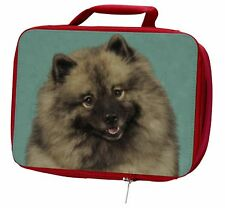 More details for keeshond dog insulated red school lunch box/picnic bag, ad-kee1lbr