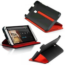 Genuine HTC ONE MINI M4 HARD FLIP CASE Black Red **Retail Packed**