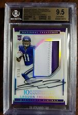 2016 National Treasures Laquon Treadwell Auto 2 Color Patch RC SP /10 BGS 9.5