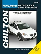 2003 04 05 2006 2007 2008 Toyota Matrix Pontiac Vibe Chilton Repair Manual 2773X