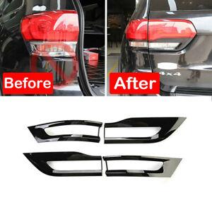 For Jeep Grand Cherokee 2014-2020 Tail Light Lamp Cover Trim Bezel Gloss Black