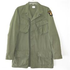 VINTAGE 1970 US ARMY VIETNAM JUNGLE JACKET SMALL LONG 101st AIRBORNE DIV PATCHE