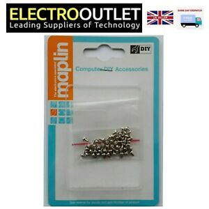 M2x 3mm Slim Optical Drive Fixing Screw Set Chrome Plated For Laptop Notebook PC