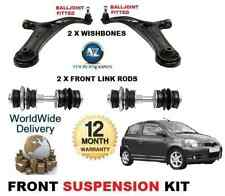 FOR TOYOTA YARIS 99-06 FR 2X WISHBONE ARMS + STABILISER LINK BARS SUSPENSION KIT