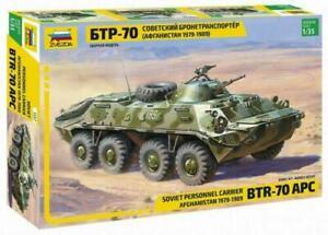 Zvezda 3557 Soviet Personnel Carrier BTR-70 APC Afghanistan 1979-1989 1/35