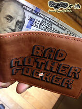 BROWN BMF® BRAND BAD MOTHER F-CKER WALLET Embroidered 100% Real Leather Original