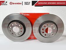 AUDI A3 SEAT LEON ALTEA TDi FSi FRONT 312mm GENUINE BREMBO BRAKE DISCS SET