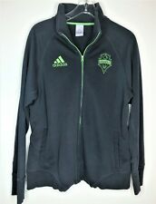Adidas Women's Seattle Sounders Full Zip Up Jacket Grey Green XL