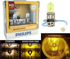 Philips Weather Vision Yellow 2900K H3 55W Two Bulbs Fog Light Upgrade Replace