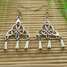 16pairs tibet silver tassels charms Earrings eardrop 61x25mm ZH760