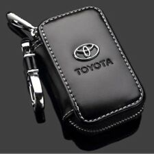 FOR Toyota Genuine Leather Car Key Chain Coin Holder Zipper Case Remote Wallet