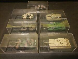 Atlas Editions 7X scale 1/72? Tank models Leclerc Mercava Abrams Chieftain lot