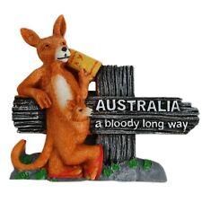Australian Souvenir 3D Fauna Kangaroo Joey A Bloody Long Way Fridge Magnet