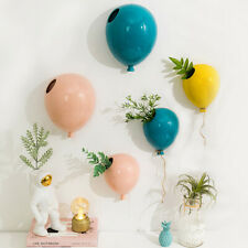 Ceramic Balloon Flower Pot Children's Room Wall Hanging Wall Vases Home Decor