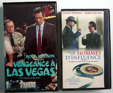 2 CASSETTES VHS EN FRANÇAIS, VENGEANCE À LAS VEGAS + DES HOMMES D'INFLUENCE
