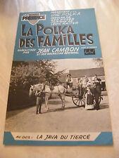 Partition La polka famiglie Jeans Combon la java del terzo Marcel Azzola 1963
