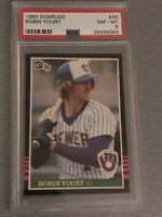 1985 Donruss Robin Yount HOF PSA 8 MINT Baseball Card #48 Milwaukee Brewers