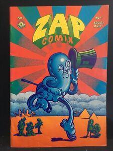 ZAP COMIX~#4~1969~2st PRINT~APEX NOVELTIES~UNDERGROUND~CRUMB~WILLIAMS~WILSON~3.