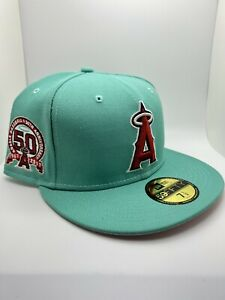 Topperz Exclusive Anaheim Angels 59fifty 50th Anniversary Patch Pink UV $ 1/2