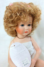 """Playhouse Doll Wig """"Vickie"""" 10-11 Blonde - Curly High Pigtails & Ribbons"""