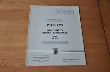 Philips AG2126 Record Player Workshop Service Manual AG 2126