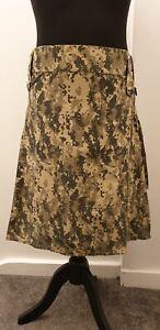 Urban Camouflage 36 Leather Straps Men Utility Kilt, Fashion Sports, 100% Cotton