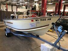 16' Blue Fin Sportsman Aluminum 85HP Chrysler Outboard w/Trailer T1297716