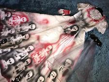 Day the Dead corpse bride wedding dress COSTUME Vampire Burning man size 7