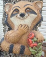 Raccoon plaque plastic mold, concrete mold, cement, plaster, mould,
