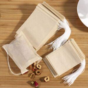 100/200Pcs Muslin Drawstring Disposable Bags Bath Soap Herbs Tea Spice Making