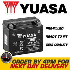 Genuine Yuasa Ytx12-Bs High Power Agm Gel Motorbike Motorcycle Battery Ytx12Bs (Fits: Benelli)