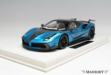 1/18 Ferrari 488 Mansory Siracusa 4xx in Blue Empero Car #1 Limited to  4XXBE2