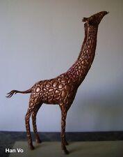 "Han Vo Sculpture Art Signed Bronze ""Giraffe"" Limited Edition Number 2/150"