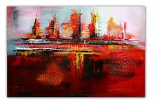 BURGSTALLER Abstrakte Malerei Rot Gold Schwarz Gemälde Acrylbild handgemalt XXL2