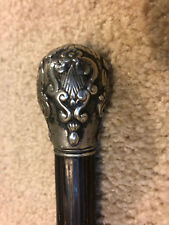 vintage knob head ebony french walking stick