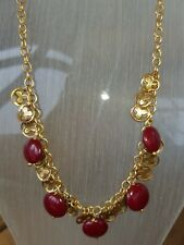 Pilgrim Necklace Gold And Berry Colour New With Tags