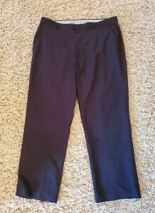 FootJot FJ Mens Black Flat Front Athletic Golf Pants Size 38x30