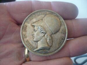 Médaille ancienne argent massif signée BARRE 37 Grs