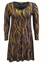 Plus Size Polyester Paisley Dresses for Women