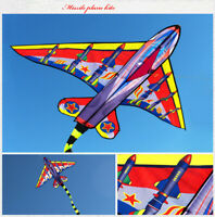 New Outdoor Fun Sports Battleplane Kite Single Line With Handle Good Flying