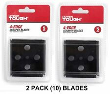Scraper Blades Hyper Tough 4-Edge Replacement Blades 10 COUNT NEW