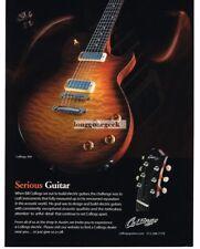 2009 COLLINGS 360 Electric Guitar Advertisement